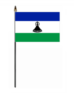 Lesotho Country Hand Flag - Small.
